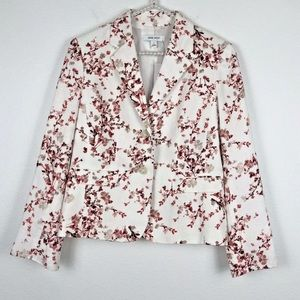 [Nine West] White Poppy Blazer Jacket NWT